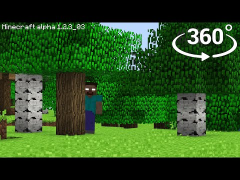 Herobrine In 360° - Minecraft [VR] 4K Horror Video
