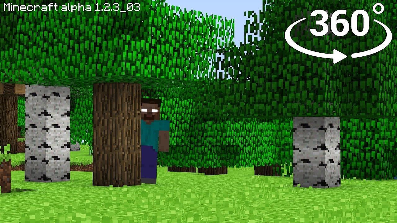 Herobrine in 360° – Minecraft [VR] 4K Horror Video