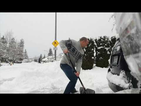 How to shovel snow with good posture