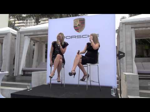 Maria Sharapova, Porsche Global Ambassador Q&A before the 2014 Sony Open