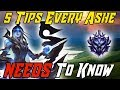 5 Tips Every Ashe NEEDS to Know! League of Legends Ashe Guide 2019 ADC Guide