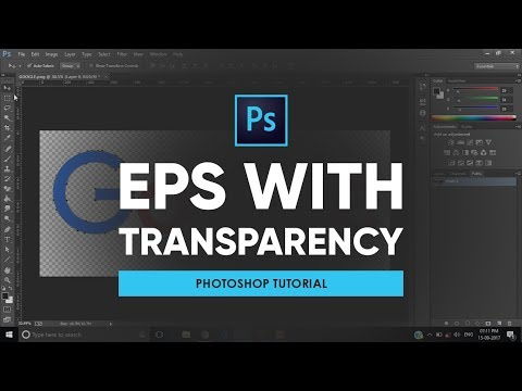 Export Image As EPS With Transparency | Photoshop Tutorial