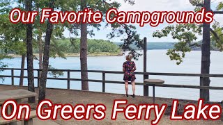Our Favorite Campgrounds Oฑ Greers Ferry Lake Arkansas