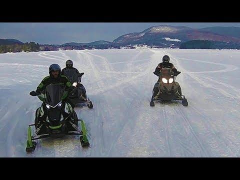 Snowmobiling Island Pond VT area