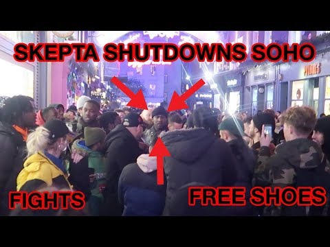 529c44262d33 SKEPTA SHUTS DOWN SOHO! FIGHTS   FREE SHOES!