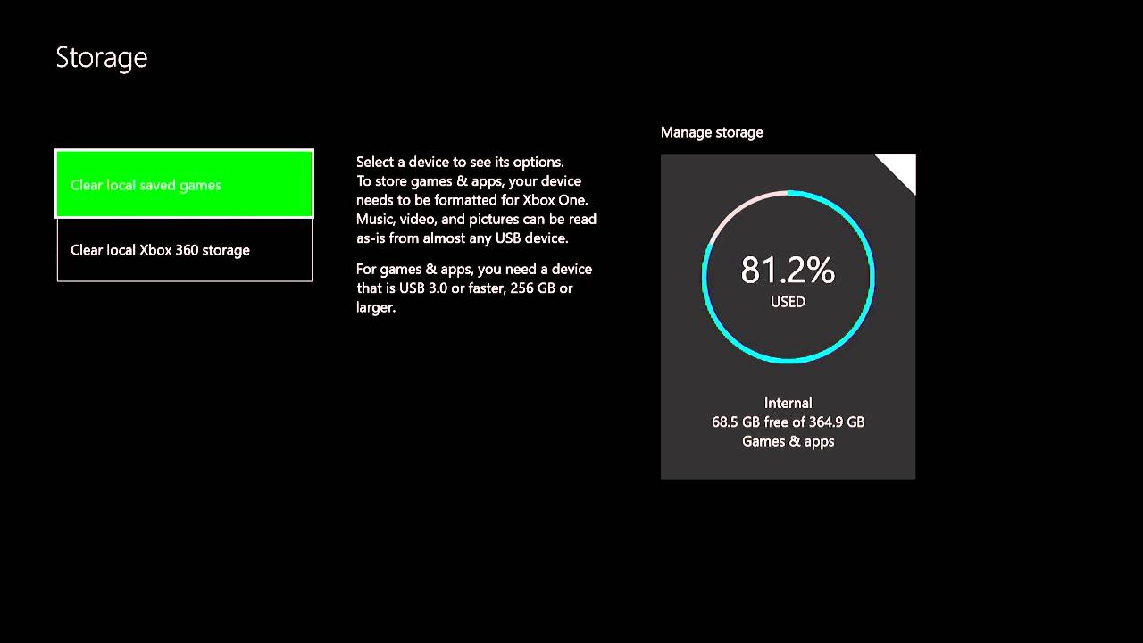 hight resolution of how to install set up a external hard drive on xbox one