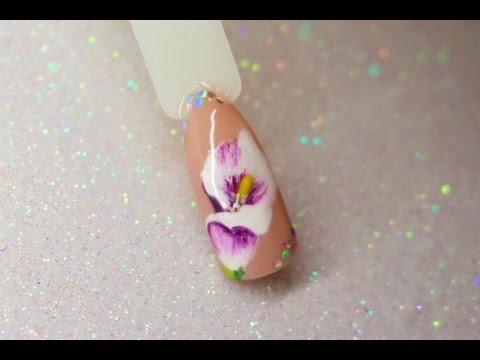 Nail Art Flower Design Model Floare Pictata Pe Unghii Youtube