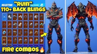 "NOUVEAU ""RUIN"" SKIN Showcased With 110 BACK BLINGS! Fortnite Battle Royale (BEST RUIN SKIN COMBOS)"