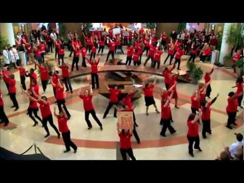 National Institute of Health Wear Red Day Flash Mob in Screen Printed Shirts by Rush Order Tees