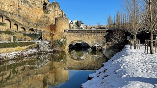 Winter of Luxembourg City Hiver Luxembourg ville vidéo tourisme: Grand-Duchy travel film Luxemburg