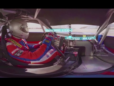Racing in 360: High-speed Sochi F1 track drive-through in amazing 4k panoramic view