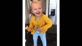 Cute Little Girl with Corn Dog Dances to Beyoncé