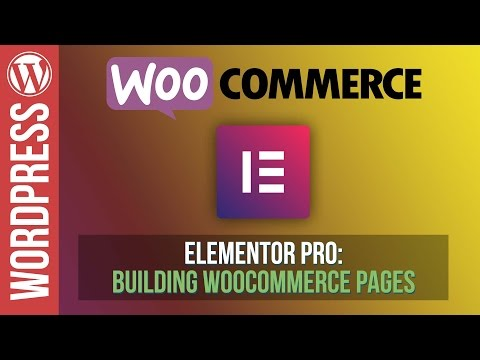 How To Build Amazing Woocommerce Pages with Elementor Pro - Tutorial - 동영상