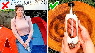 FESTIVAL HACKS THAT WILL SAVE YOUR LIFE || Camping Tricks For Every Need