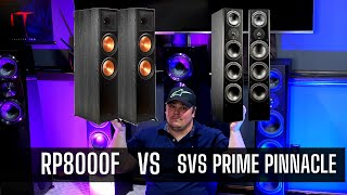 Klipsch RP8000F To SVS Prime Pinnacle! REVIEW/DEMO OF SVS PRIME PINNACLE TOWER!