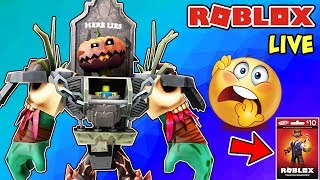 🔴 Roblox Live - What Are the Scariest Games on Roblox? | Playing Your Suggestions + 1000 Robux Code