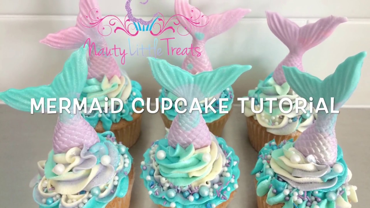 Quick and easy Mermaid cupcake tutorial YouTube