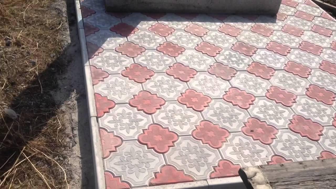 Как уложить тротуарную плитку на кладбище своими руками