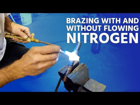 Brazing With and Without Flowing Nitrogen + Using Silver Solder Rings