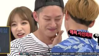 Btob Minhyuk aegyo to Heechul