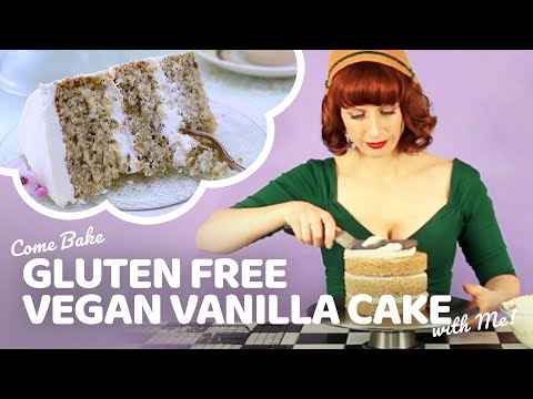 Best Ever Gluten Free Vegan Vanilla Cake | Bake Vegan Stuff with Sara Kidd