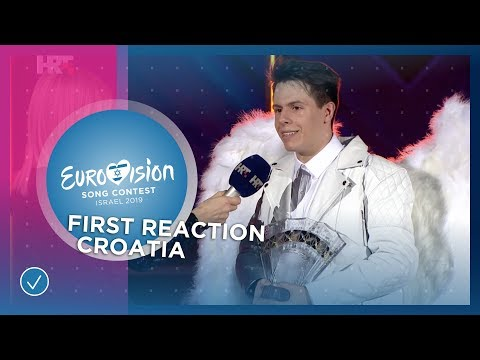 Roko's first reaction after winning 'Dora' in Croatia - Eurovision 2019