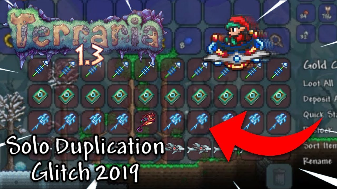 SOLO DUPLICATION GLITCH FOR TERRARIA 1 3 XBOX ONE/PS4 *WORKING* 2019