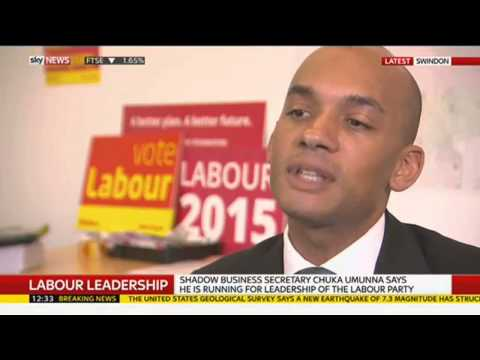 """Chuka Umunna Says """"No More Blairites"""" As He Announces He's Running For Labour Leader"""