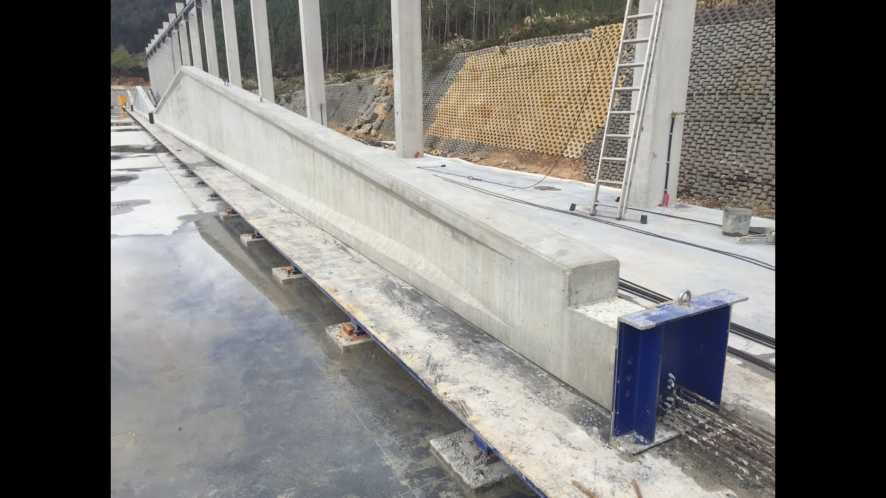Production Of Precast Prestressed Elements On Casting Bed