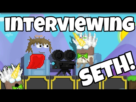 Growtopia | Interviewing SETH! *Funny*