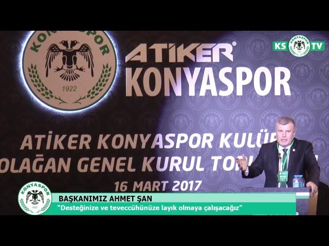 Atiker Konyaspor'umuzun Olağan Genel Kurul Toplantısı yapıldı