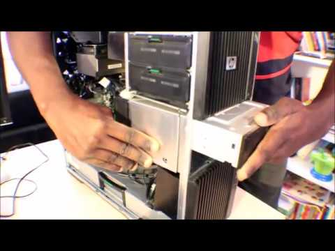 How to remove DVD ROM or drive player on HP Z600 - Z800 - Z820 - Z620 - Z400