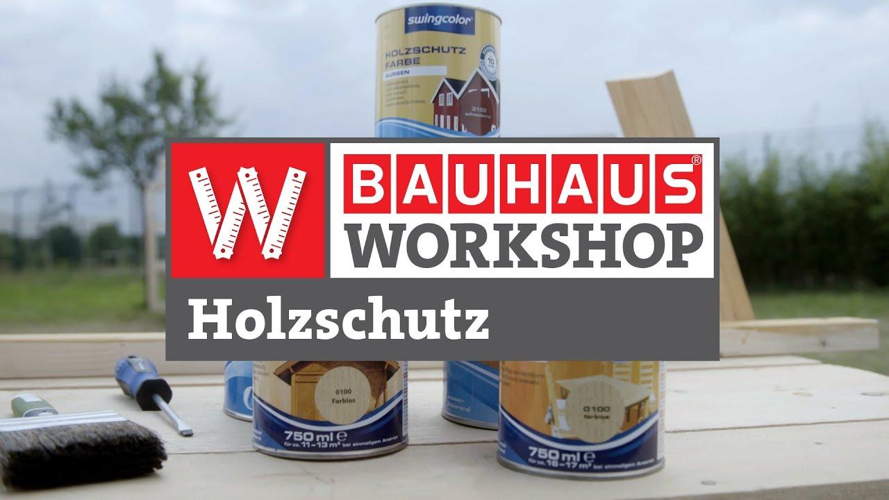 Swingcolor Holzschutzfarbe Schwedenrot 750 Ml Seidenglanzend Bauhaus