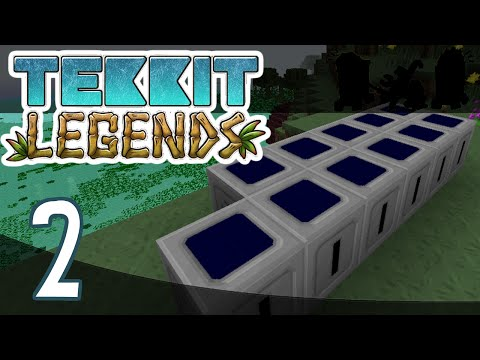 Minecraft | Tekkit Legends : Episode 2 | Solar and EMC Farms
