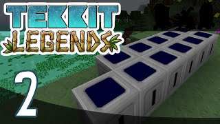 Minecraft | Tekkit Legends : Episode 2 | Solar and EMC Farms