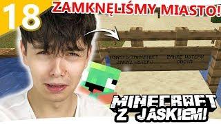 ZAMKNĘLIŚMY CAŁĄ OSADĘ! - Minecraft z Jaśkiem #18   JDABROWSKY