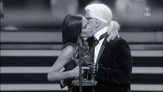 VICTORIA BECKHAM  & KARL LAGERFELD @ BAMBI 2013