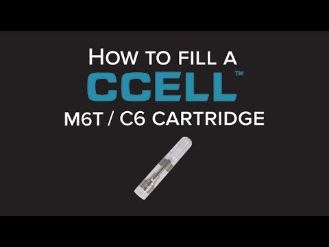 How To Fill: CCELL M6T / C6 Vape Cartridge