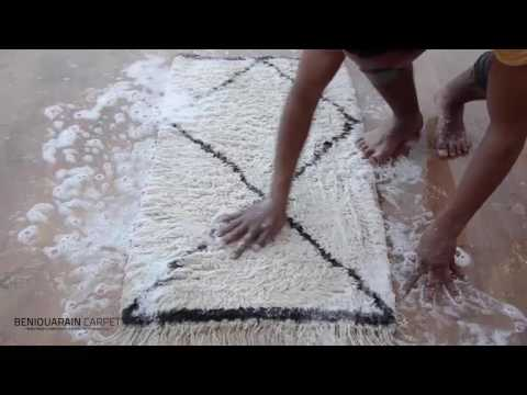 How to wash your beni ouarain rug