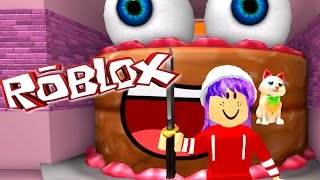 ROBLOX LET'S PLAY ESCAPE A GIANT CAKE OBBY | RADIOJH GAMES