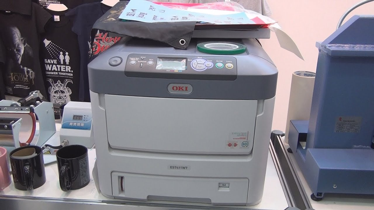 e10bc88e Oki Pro7411WT White Toner Printer review - YouTube
