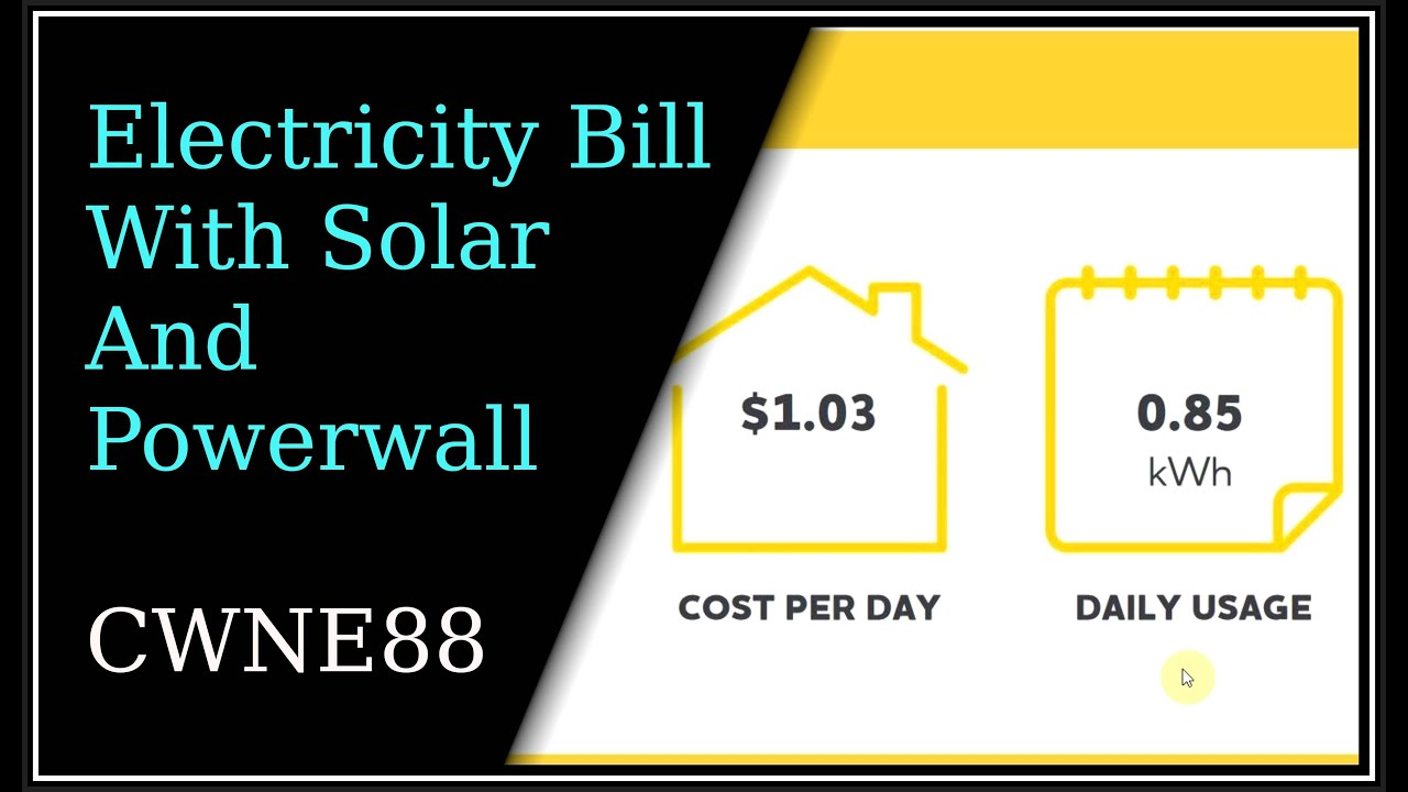 Electricity Bill With Solar And Electric Car