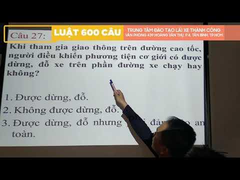 Lý Thuyết 600 Câu Hỏi Luật GTĐB 2020 Phần CHỮ ( Câu 01 - 80 ) Phần 1 - Thầy Nguyên