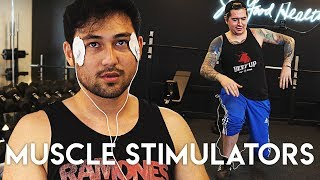 USING A MUSCLE STIMULATOR AT THE GYM