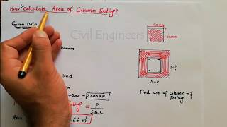 How to Calculate Area of footing for Column?