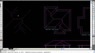 Drawing A House In Autocad, Video 19 - Mono Pitch Hip Roof