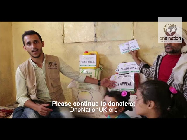 Food & Medical Given To Families in Yemen - November 2018