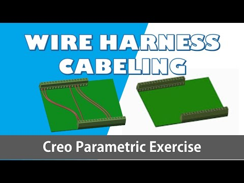 creo parametric cabeling harness | basic wiring pcb conmector cabling titorial