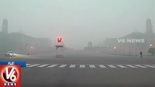 Dense Fog Covers Capital City New Delhi | Weather Report | V6 News