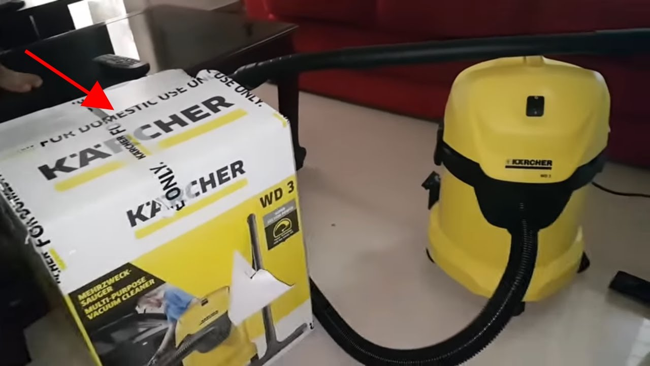 a55d9db1a06 KARCHER WD3/MV3 Review/Unboxing/Pros&Cons 1000 Watt Wet & Dry Vacuum Cleaner.  Car And Tech